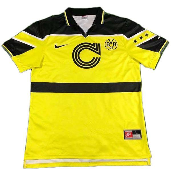 Borussia dortmund home retro jersey champions leage maillot match men's 1st soccer sportwear football shirt 1996-1997