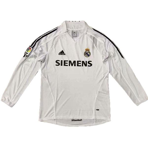 Real Madrid Home Retro Long Sleeve Jersey 2006