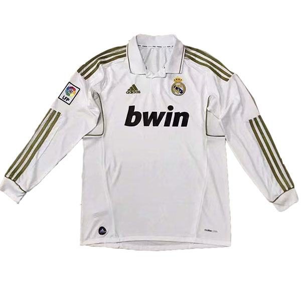 Real Madrid Home Retro Long Sleeve Jersey 2012