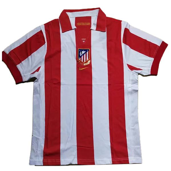 Atletico de madrid home retro soccer jersey centenary maillot match men's 1st sportwear football shirt 1903-2003