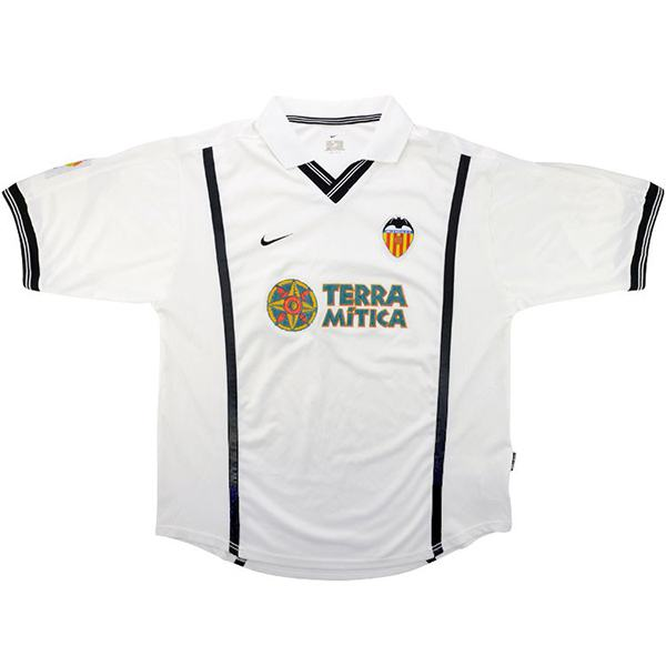 Valencia FC Home Retro Jersey Men's Soccer Sportwear Football Shirt 2000/2001