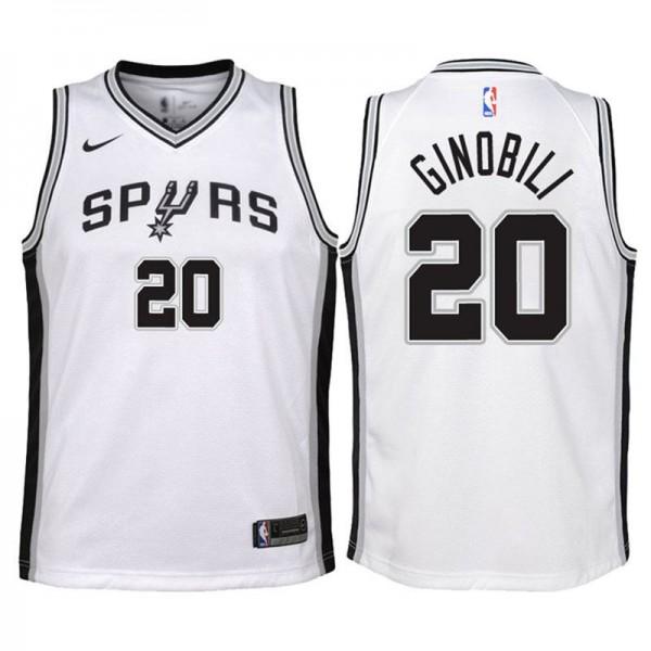 Manu Ginobili San Antonio Spurs 20 Association White Swingman Jersey 2018