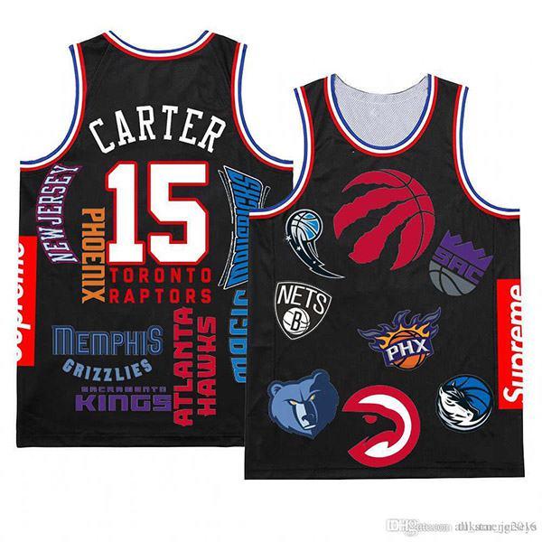 2019 New Vince 15 Carter Sup Basketball Jersey Black