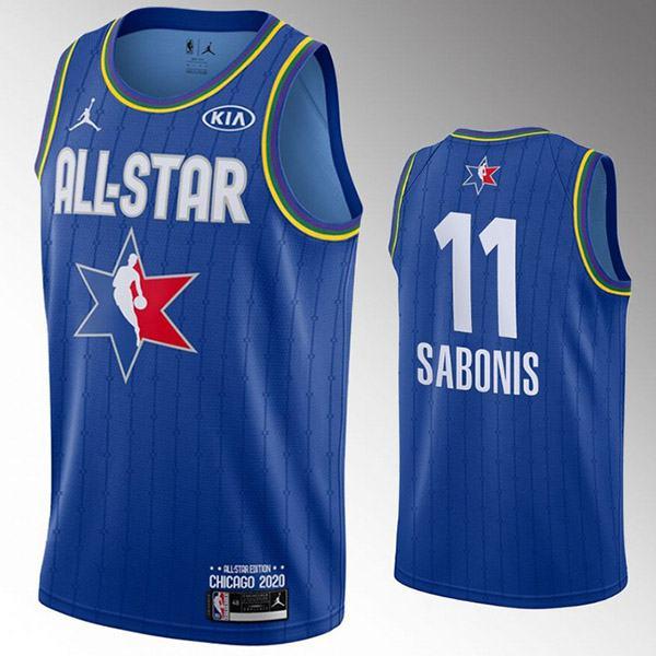 2020 all star game jordan portland trail blazers arvydas sabonis 11 nba basketball swingman jersey blue edition shirt