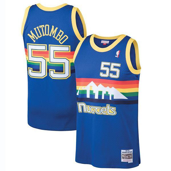 Denver Nuggets Dikembe Mutombo Mitchell Ness Blue 1991-92 Hardwood Classics Swingman Jersey