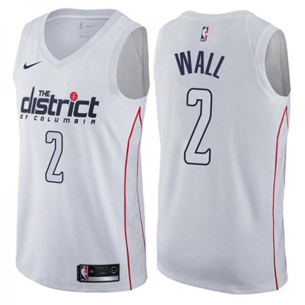 26bacdd4d84 Washington Wizards 2 John Wall White Swingman City Edition NBA Jersey 2018