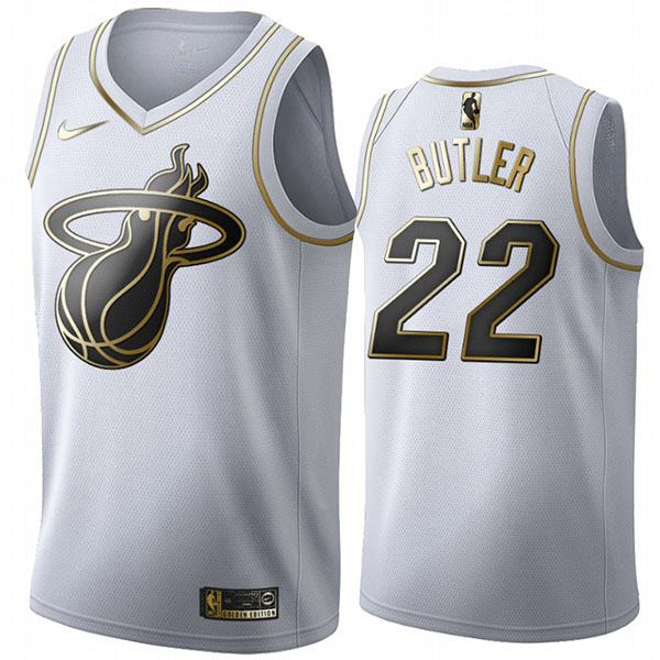 All Star Game Miami Heat 22 Jimmy Butler White Gold Basketball Edition Limited Jersey 2020