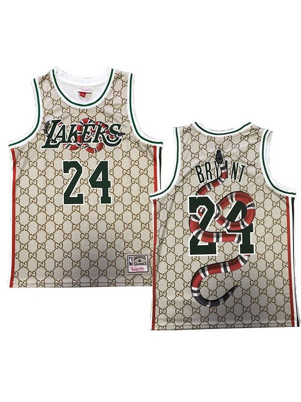 Los angeles lakers 24 kobe bryant retro basketball jersey ...