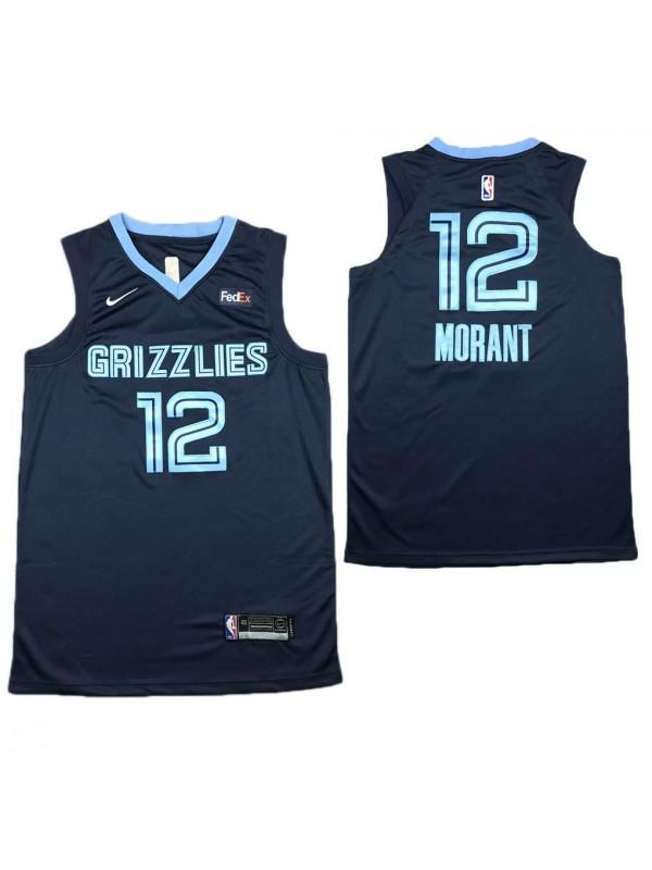 Men's NBA Vancouver Grizzlies Ja Morant 12 Basketball Swingman Jersey Navy 2020