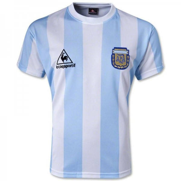 Argentina Retro Home Soccer Jersey 1986