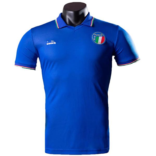 Italy home jersey men's frist soccer sportwear football shirt 1990