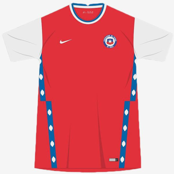 Chile home jersey maillot match men's 1st soccer sportwear football shirt 2020 EURO