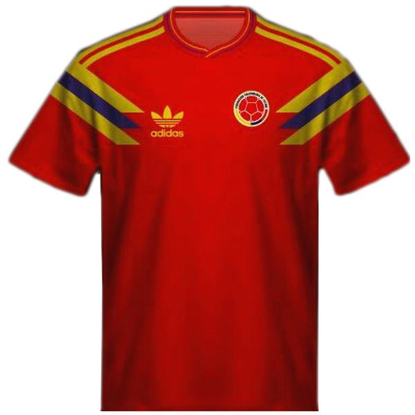 Colombia home retro soccer jersey maillot match men's 1st sportwear football shirt 1990