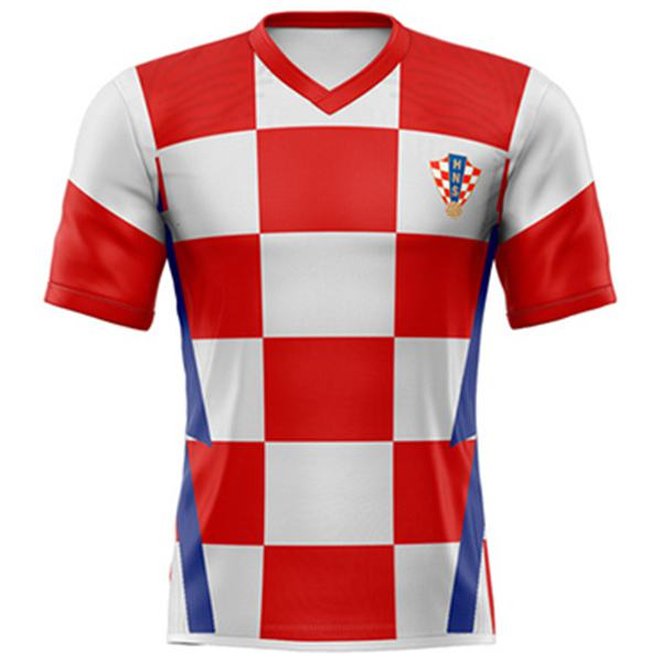 Croatia home jersey maillot match men's 1st soccer sportwear football shirt 2020