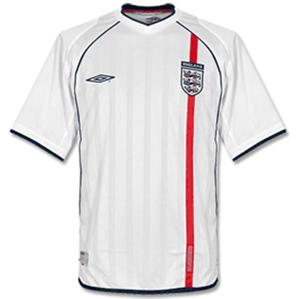 England home retro jersey men's 1st soccer sportwear football shirt 2002