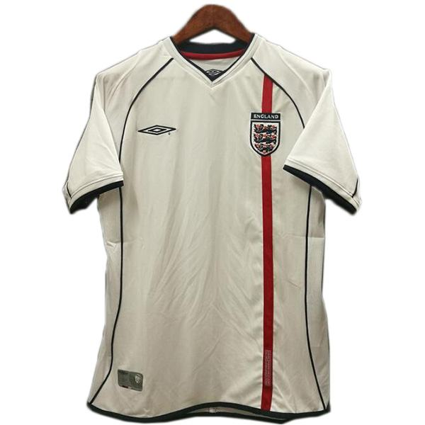 England Retro Soccer Jersey White Men's Sportwear Football Shirt 2002