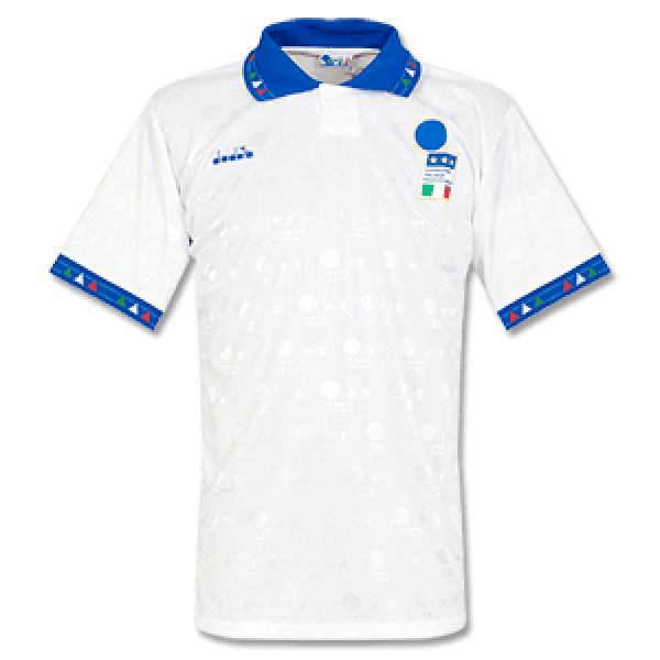 Italy away retro jersey soccer jersey maillot match men's 2ed sportwear football shirt 1993-1994