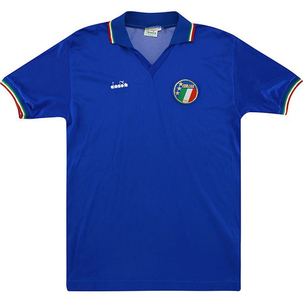 Italy home retro soccer jersey maillot match men's 1st sportwear football shirt 1986