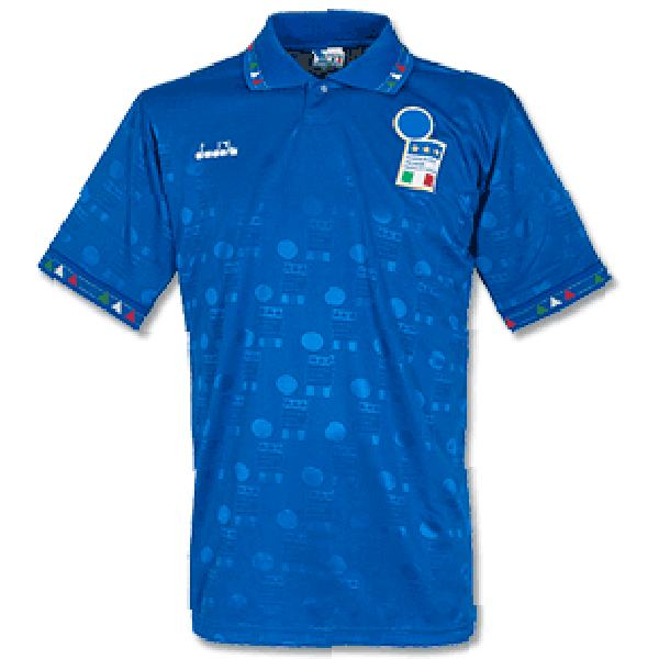 Italy home retro soccer jersey soccer jersey maillot match men's 1st sportwear football shirt 1993-1994