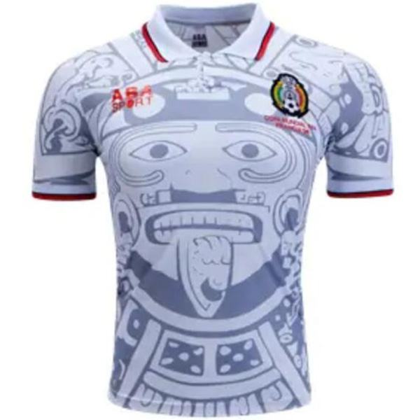 Mexico Away Retro Soccer Jersey Gray Football Shirt 1996