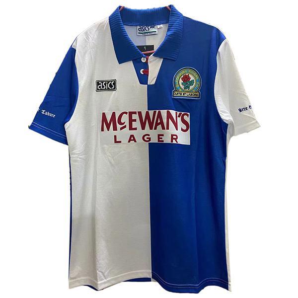 Blackburn Rovers home retro soccer jersey maillot match men's 1st sportwear football shirt 1994-1995