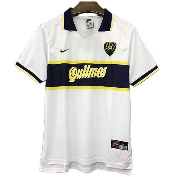 Boca away retro edition jersey sportwear maillot match men's 2ed soccer shirt football sport t-shirt 1997-1998