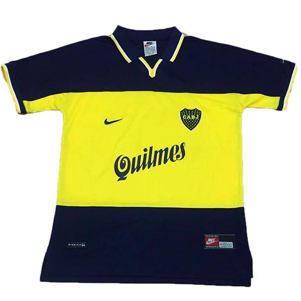 Boca home retro soccer jersey maillot match men's 1st sportwear football shirt 1999
