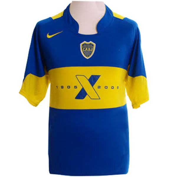Boca home retro version soccer jersey maillot match men's 1st sportwear football shirt 2005