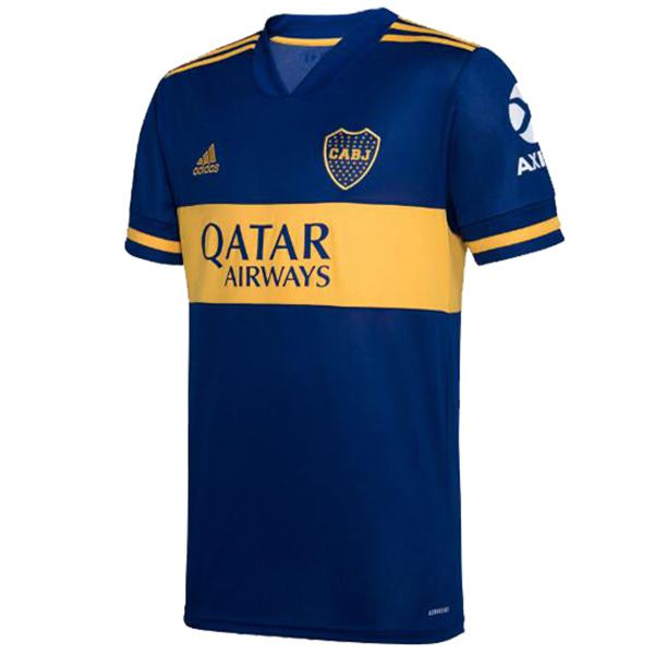Boca Juniors Home Jersey Maillot Match Men's Soccer Sportwear Football Shirt 2020-2021