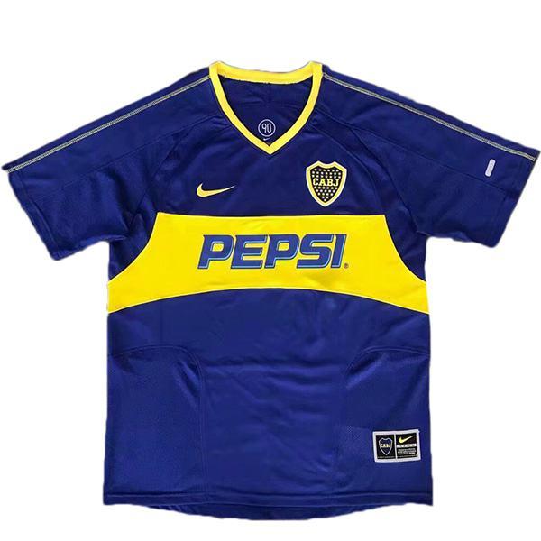 Boca juniors home retro soccer jersey maillot match men's 1st sportwear football shirt 2003-2004