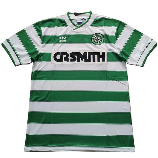Celtic home retro soccer jersey maillot match men's first sportwear football shirt 1985-1986