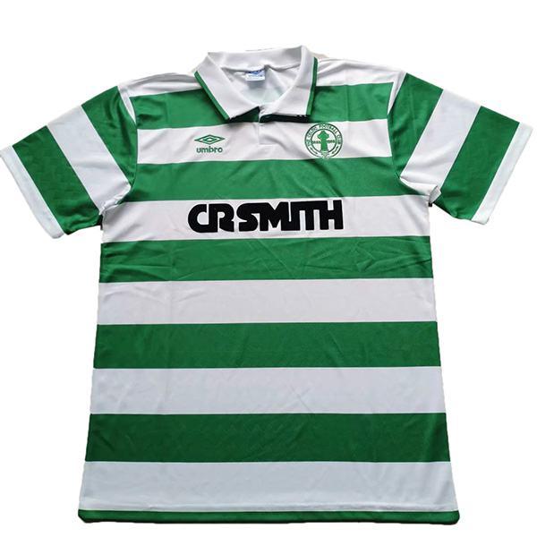 Celtic home retro soccer jersey maillot match men's first sportwear football shirt 1987-1989