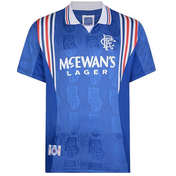 Rangers home glasgow retro soccer jersey maillot match men's first sportwear football shirt 1996-1997