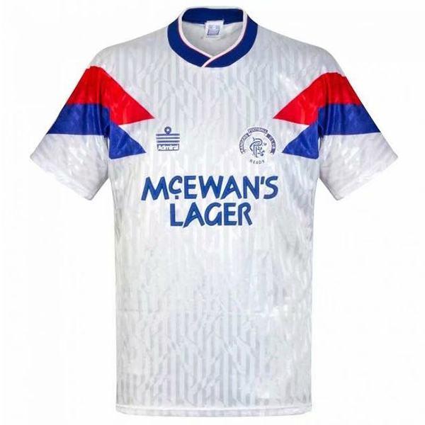 Rangers retro soccer jersey maillot match men's sportwear football shirt 1990-1992