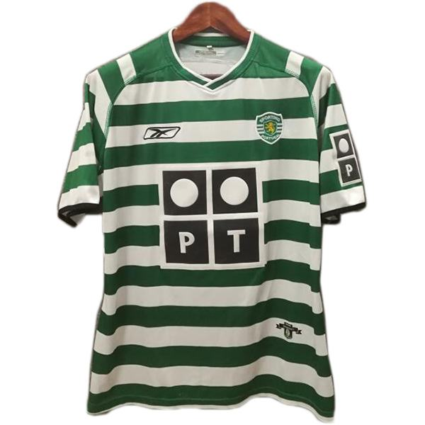Sporting Lisbon Home Retro Jersey Maillot Match Men's Soccer Sportwear Football Shirt 2003-2004
