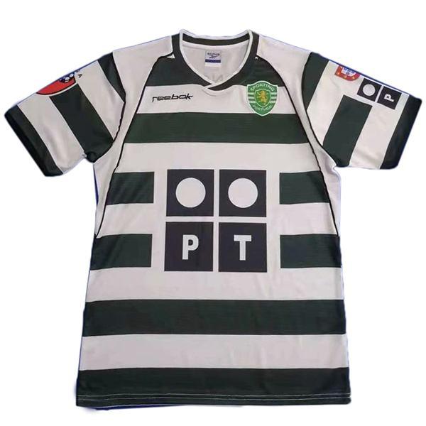 Sporting Lisbon home retro soccer jersey Sporting CP maillot match men's first sportswear football shirt 2001-2003