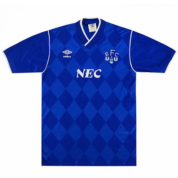 Everton home retro jersey maillot match men's 1st soccer sportwear football shirt 1986-1987
