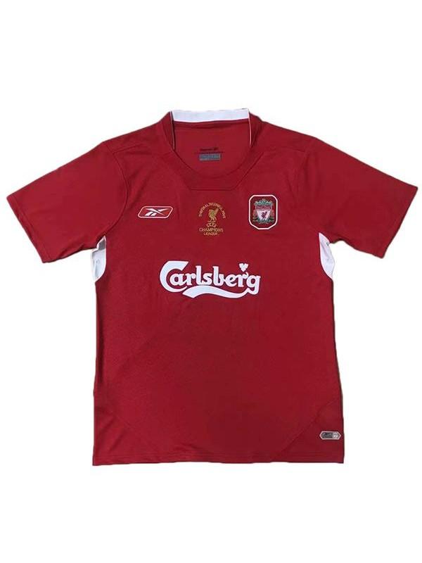 Liverpool home retro jersey maillot match men's soccer sportwear football black shirt 2005