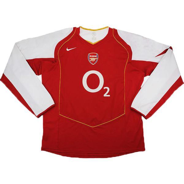 Arsenal home long sleeve retro soccer jersey maillot match men's 1st sportwear football shirt 2004-2005