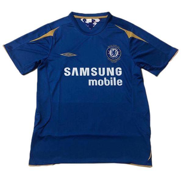 Chelsea home retro jersey 100 years anniversary maillot match men's 1st soccer sportwear football shirt 2005-2006