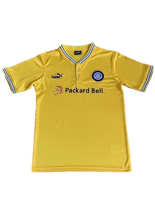 leeds united away retro soccer jersey maillot match men's 2ed sportwear football shirt 2000