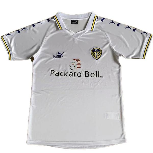 Leeds united home retro soccer jersey maillot match men's 1st sportwear football shirt 1999