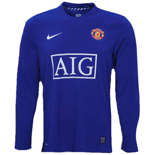 Manchester united away long sleeve retro jersey 07/08