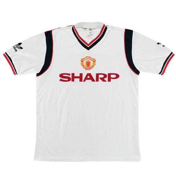 Manchester united away retro soccer jersey maillot match men's 2ed sportwear football shirt 1984