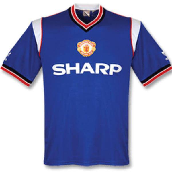 Manchester united away retro soccer jersey maillot match men's 2ed sportwear football shirt 1986