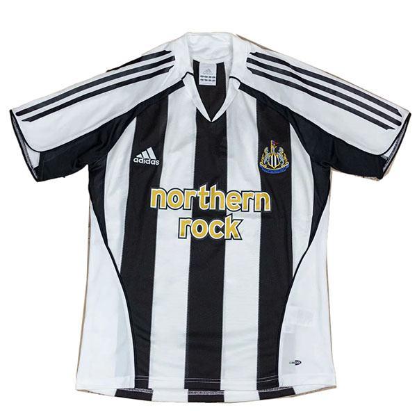 New castle home retro soccer jersey maillot match men's 1st sportwear football shirt 2005-2006