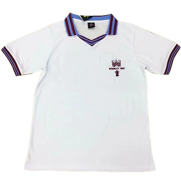 West Ham United home retro vintage soccer jersey match men's first sportswear football shirt 1980-1982