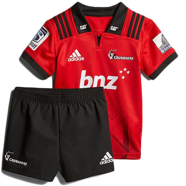 Crusaders home kids kit rugby Jersey 2018 red
