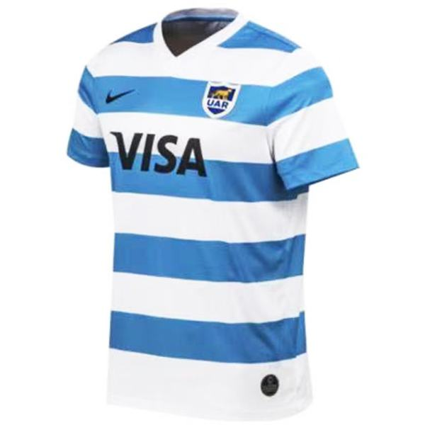 Argentina home rugby jersey Men's Gameday RWC Replica Shirt Blue white 2021