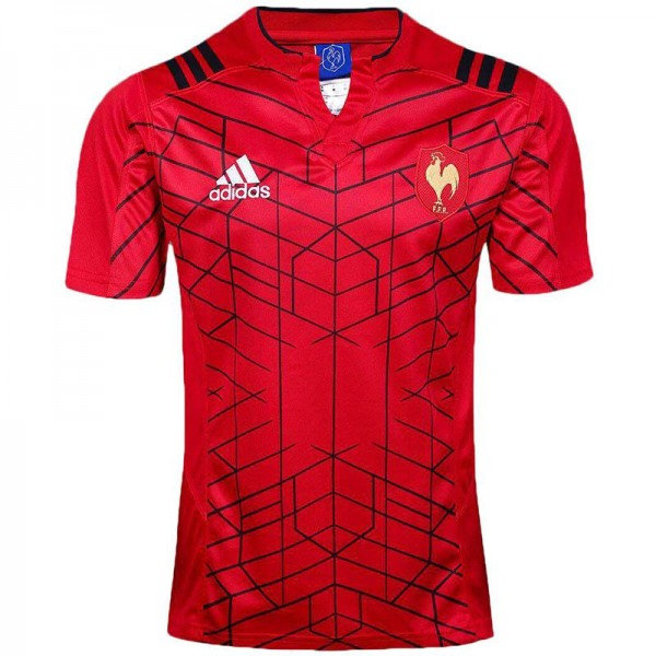 France home rugby jersey 1617 red